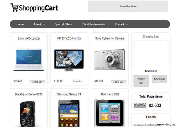 Shopping-Cart-blogger-template