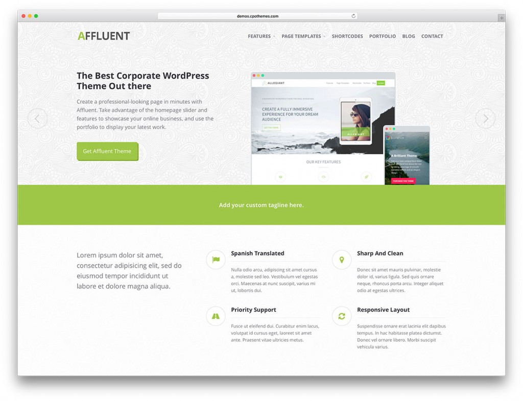 affluent-light-wordpress-website-theme